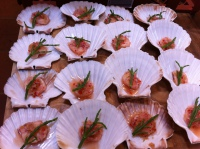 Marinated scallops